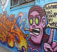 Angry man - Graffiti by gokul