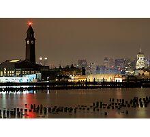 N J Transit Clocktower Hoboken N J Photographic Print