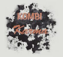 KOMBI Karma Shirt - Orange text by melodyart