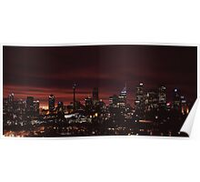 Sydney skyline in late sunset - large scale shot Poster