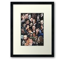Benedict Cumberbatch Collage Framed Print