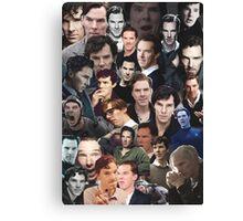 Benedict Cumberbatch Collage Canvas Print
