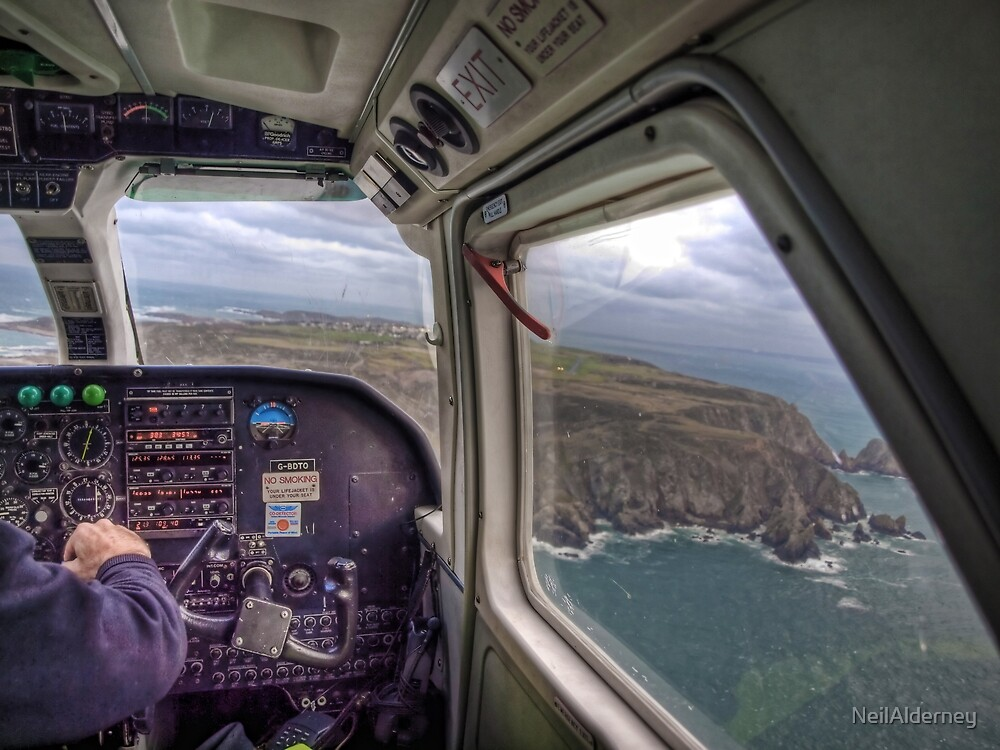 Long Final with a crosswind - Alderney by NeilAlderney