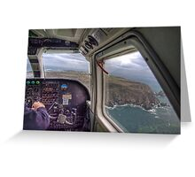 Long Final with a crosswind - Alderney Greeting Card