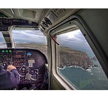Long Final with a crosswind - Alderney Photographic Print
