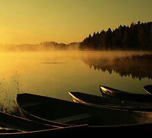 Boats in the early morning by Markku Mestilä