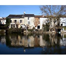 Waterside houses Photographic Print