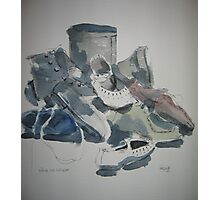 Boots and shoes Photographic Print