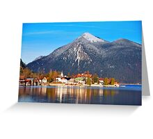 Town Walchensee Greeting Card
