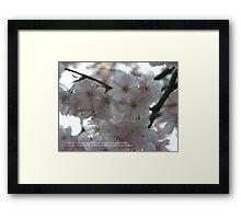 April Framed Print