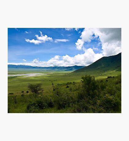 an inspiring Tanzania landscape Photographic Print