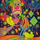 Sad Clown In Happy Town by Adriel Restrepo