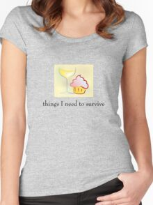 Things I need to survive Women's Fitted Scoop T-Shirt