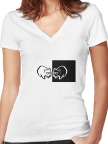 The Cool Wombats Women's Fitted V-Neck T-Shirt
