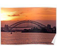 Harbour Sunset  - Sydney Harbour Bridge Poster