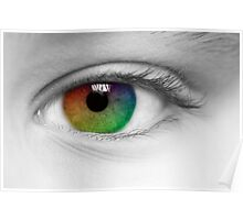 Macro Multi Colour Eye Poster