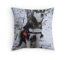 Wolfie in the Woods Throw Pillow