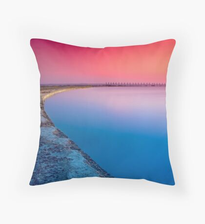 The Canoe Pool Throw Pillow