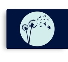 Dandelion Bird Flight Canvas Print