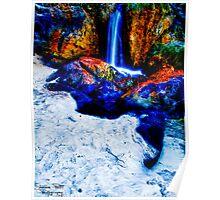 Waterfall Beach Poster
