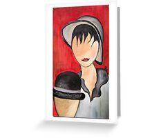 Figure con cappello - People with hat Greeting Card