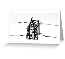 Cormorant Tower Greeting Card