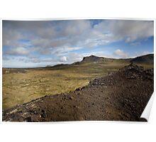Volcanic Lava Field, Snæfellsness, Iceland Poster