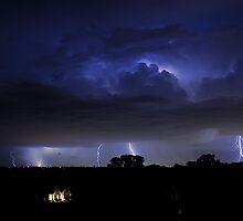 Late Night August Thunderstorm by Dennis Jones - CameraView