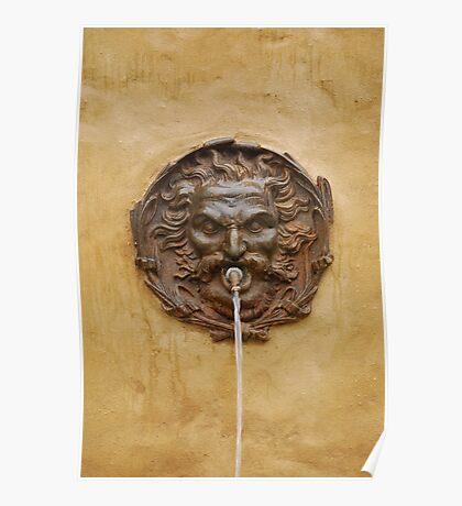 Water Fountain in Pitigliano, Tuscany  Poster