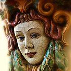 Sicilian ceramic mask by Andrea Rapisarda