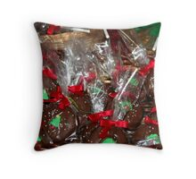 Visions of Lollipops Throw Pillow