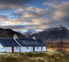 Black Rock Cottage and Buachaille Etive Mor by Martin Slowey