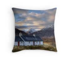 Black Rock Cottage and Buachaille Etive Mor Throw Pillow