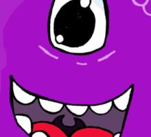 flying purple people eater Sticker