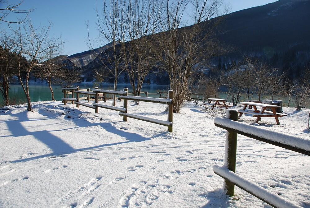 Picnic Area in Snow  by jojobob