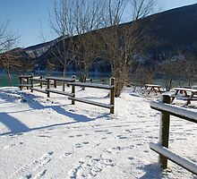 Picnic Area in Snow  by jojobob