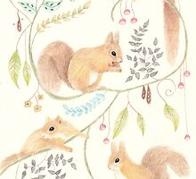 Squirrel Symphony by Catherine Gabriel