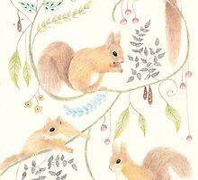 Squirrel Symphony by Cat Gabriel