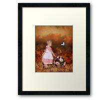 """A Merrily Modern Holly Hobbie"" Framed Print"