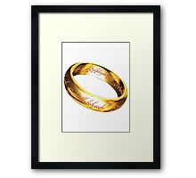 One Ring Framed Print