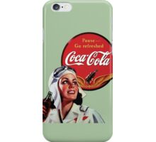 Coca Cola Vintage Ad iPhone Case/Skin