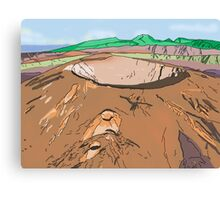 Art & Deco (by Austral Monkey) • Volcano Canvas Print