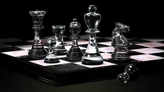 Glass Chess Set Posters By Terry Best Redbubble