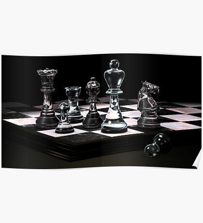 Glass Chess Set Poster