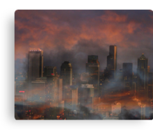 Surreal Seattle Canvas Print