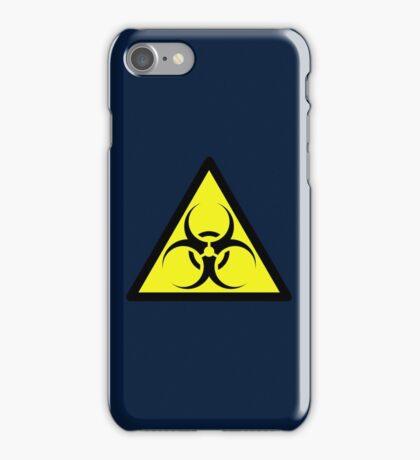 ZOMBIE APOCALYPSE HAZMAT SIGN by Zombie Ghetto iPhone Case/Skin
