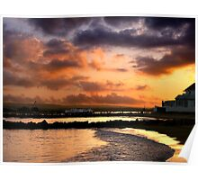 A Dorset Sunset Poster