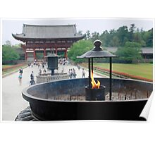 Incense Burner at Todaiji Temple  Poster