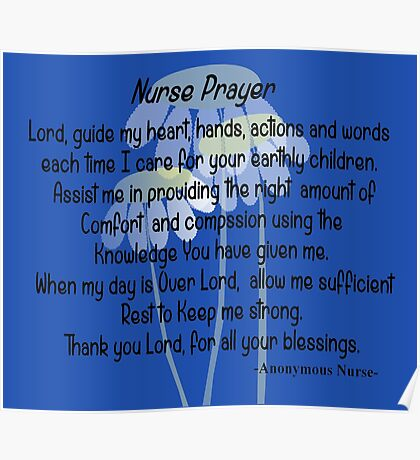 Nurse Prayer Poster