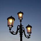 Street Light Against Sunset by jojobob